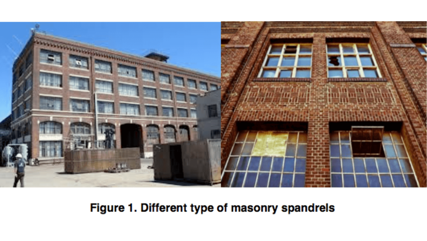 Investigation on the strength of spandrels in masonry façades